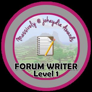 Forum Writer - Level 1