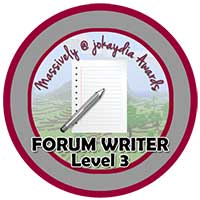 013. Forum Writer Level 3 – 10 Comments!