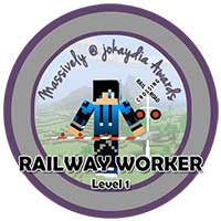 075. Railway Worker's Award Level 1 – Track Builder Icon