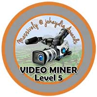 00!. Video Miner Award Level 5 – Professional Film-maker Icon